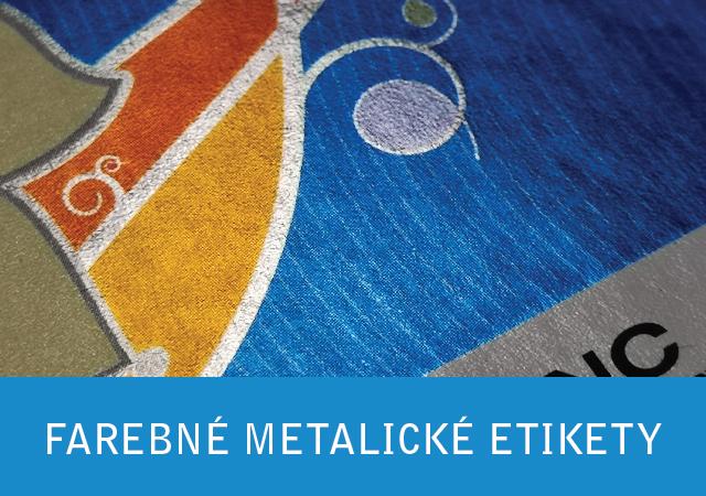 Farebné metlické etikety